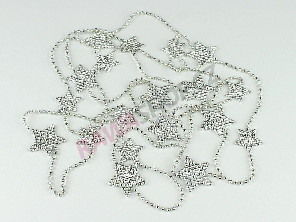 Vánoční řetěz - stříbrná