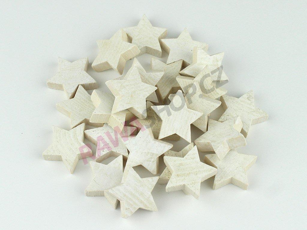 Hvězdy 24ks - natur