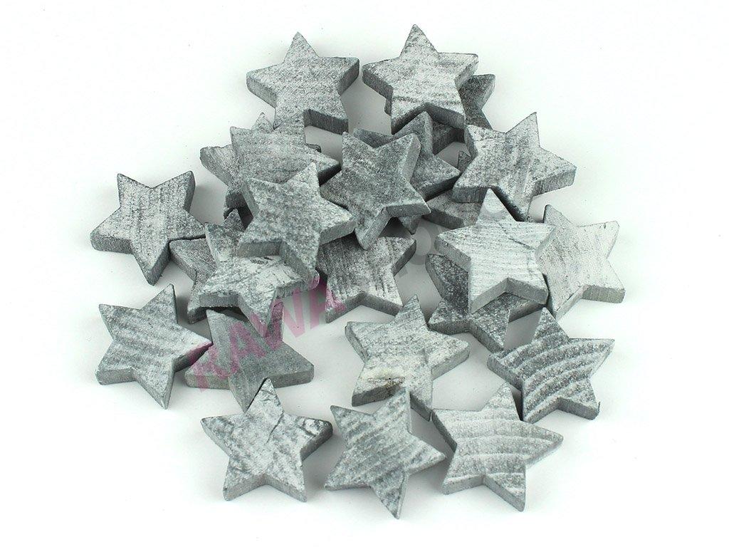 Hvězdy 24ks - šedá