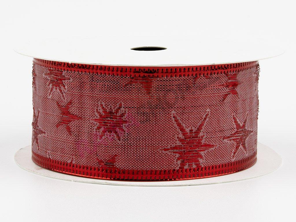 Bavlněná stuha 4cm - red-red