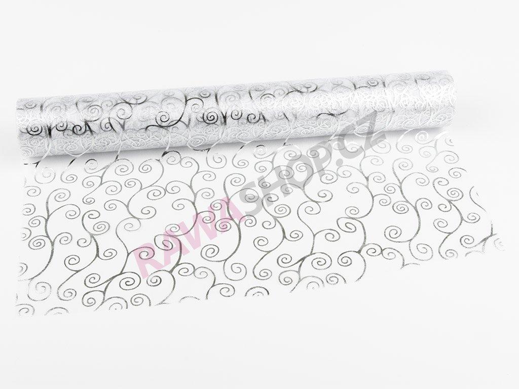 Organza 39cm - white-silver 3