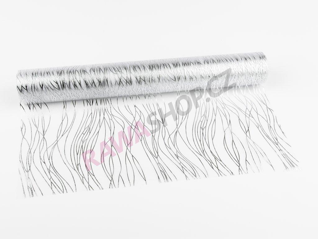 Organza 39cm - white-silver 4