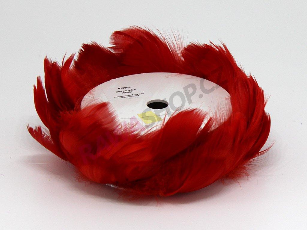 Peří na drátku - červené