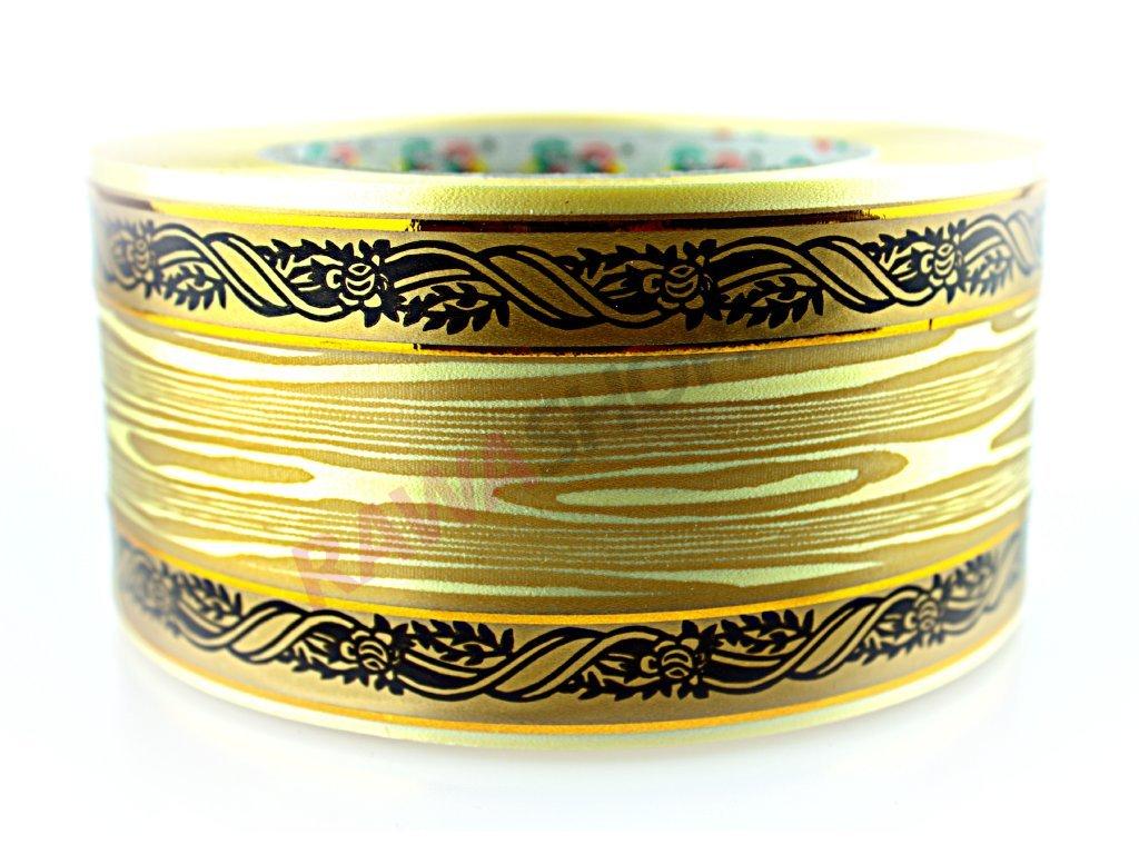 Produkt č. 160 5 Smuteční stuha 6cm zlatá PAS60 611