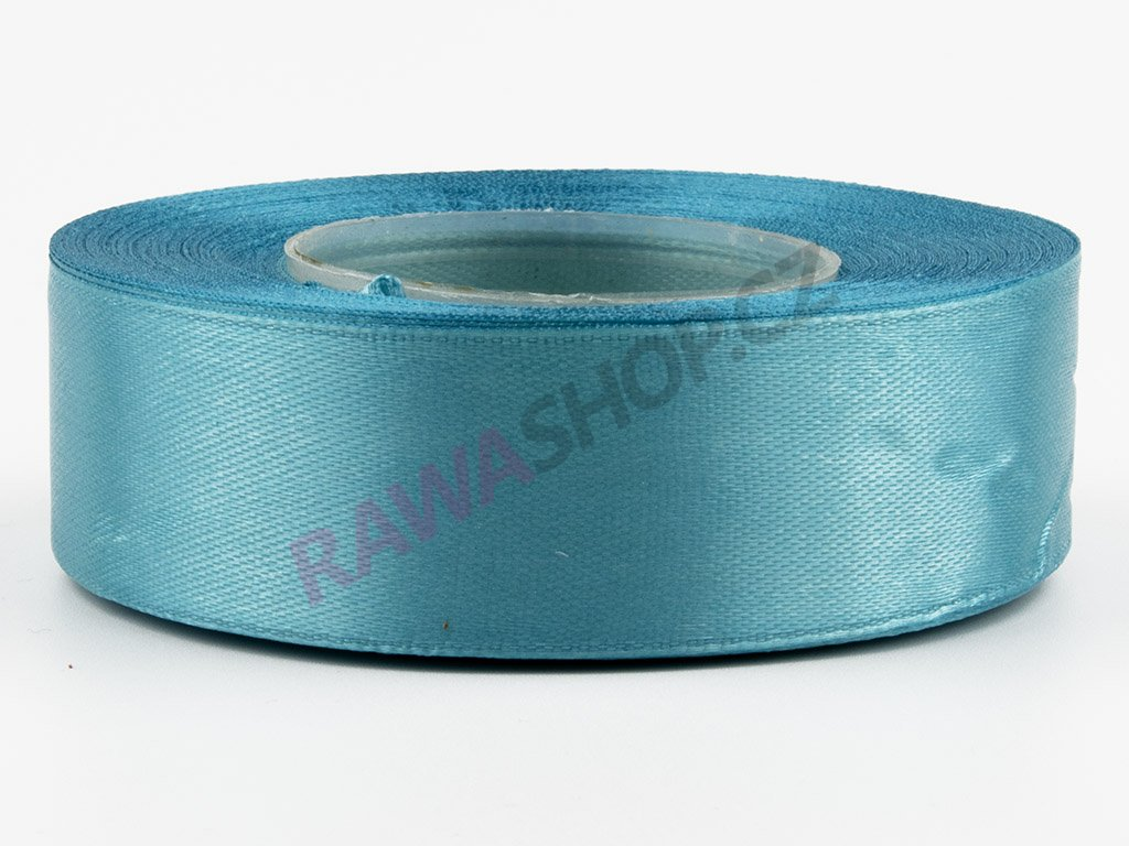 Saténová stuha 2,5cm - dark turquoise