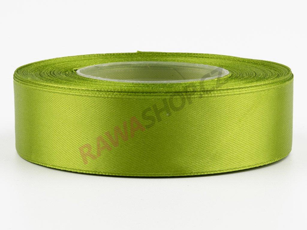 Saténová stuha 2,5cm - olive green
