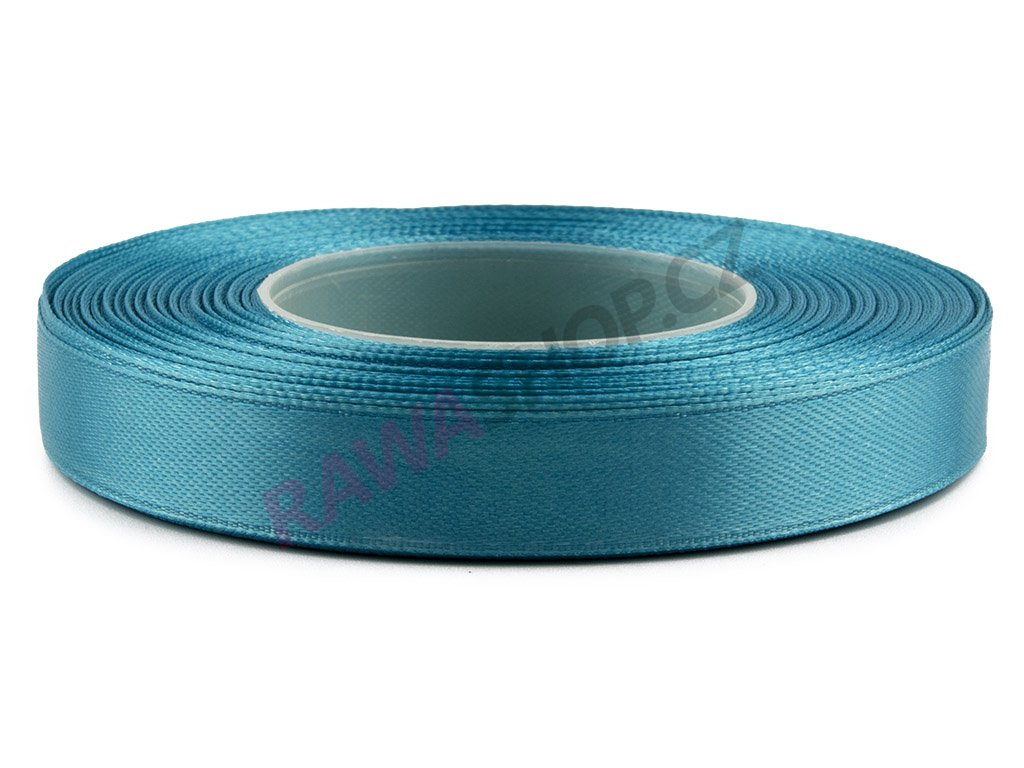 Saténová stuha 1,2cm - dark turquoise