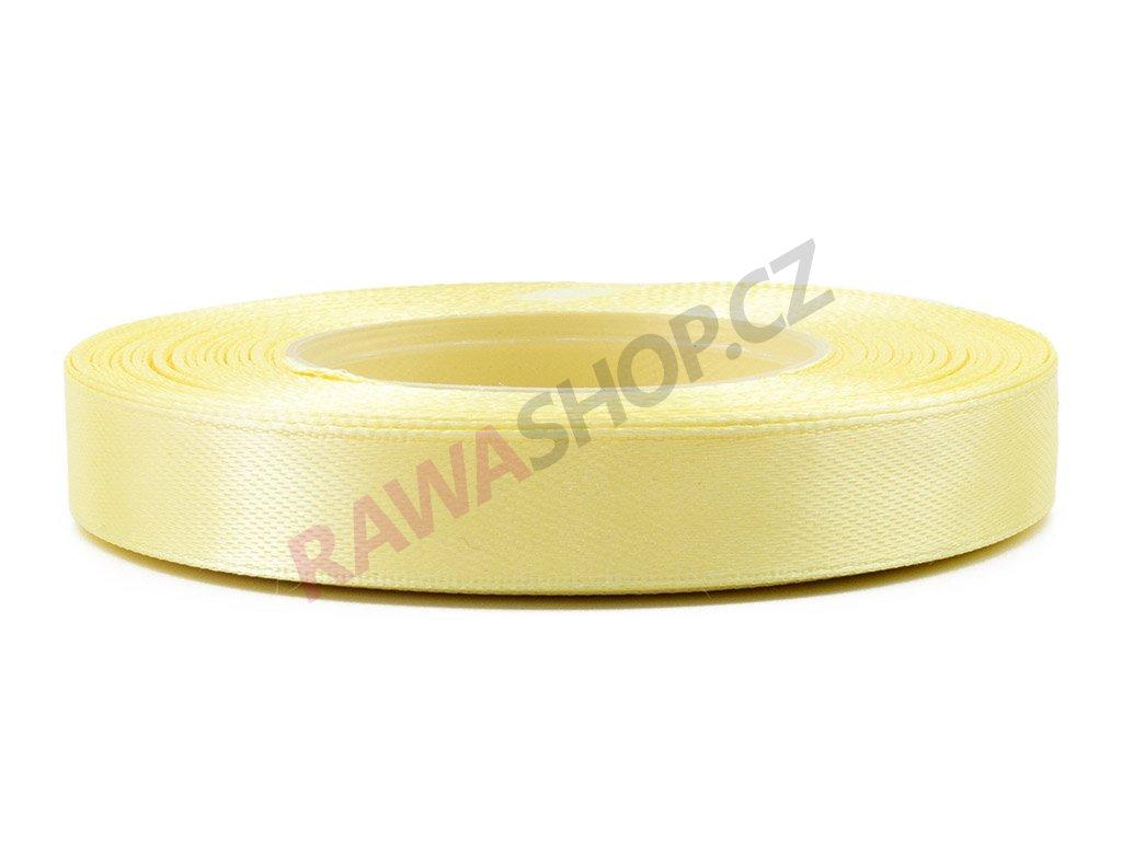 Saténová stuha 1,2cm - vanilia