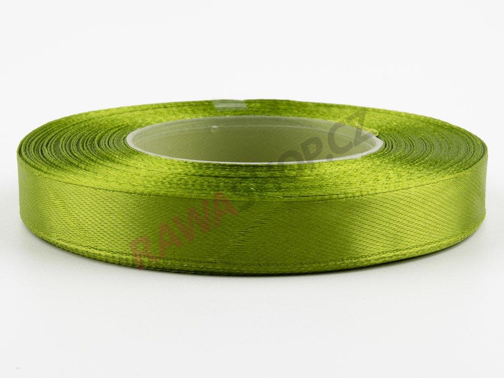 Saténová stuha 1,2cm - olive green