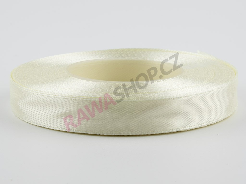 Saténová stuha 1,2cm - cream