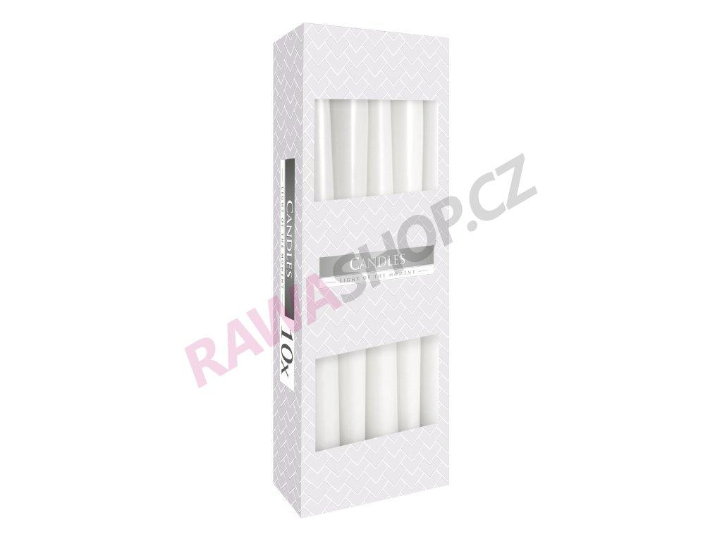 8. Kónické svíčky 10ks bílá BS30 090