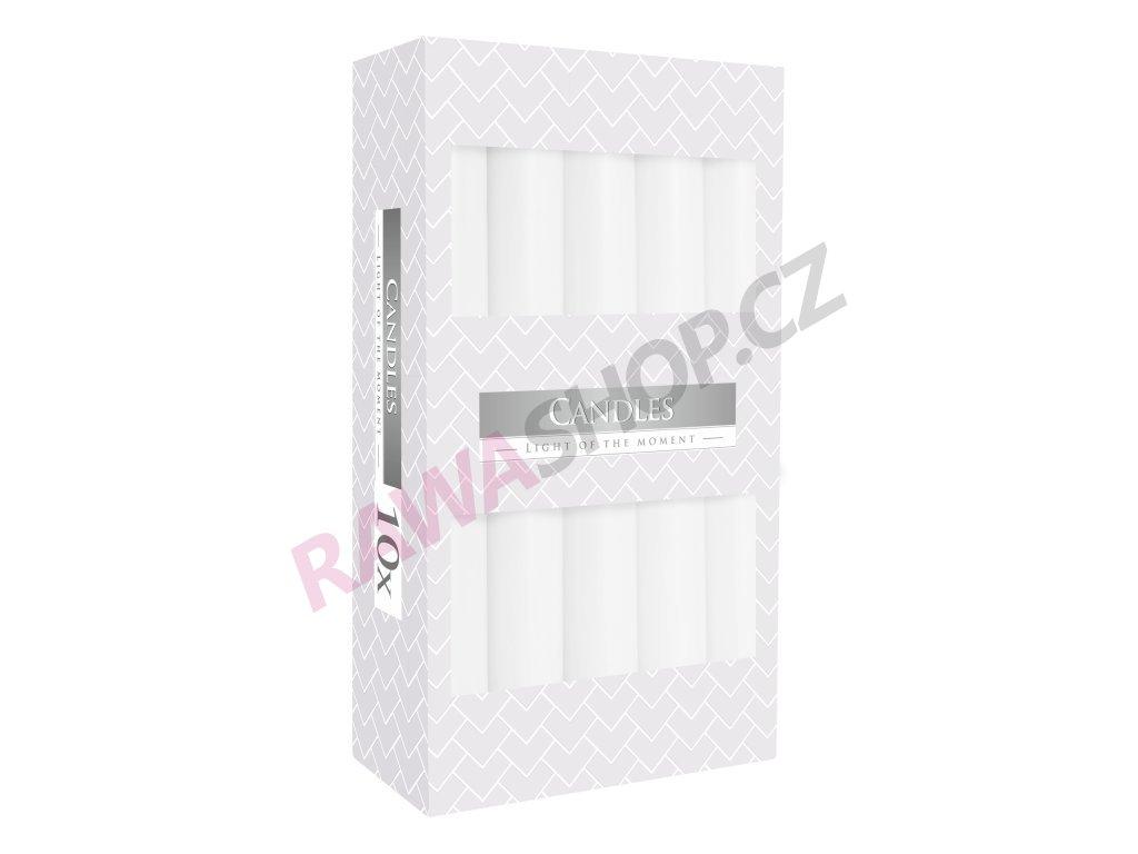 17. Stolní svíčky 10ks bílá S1 090