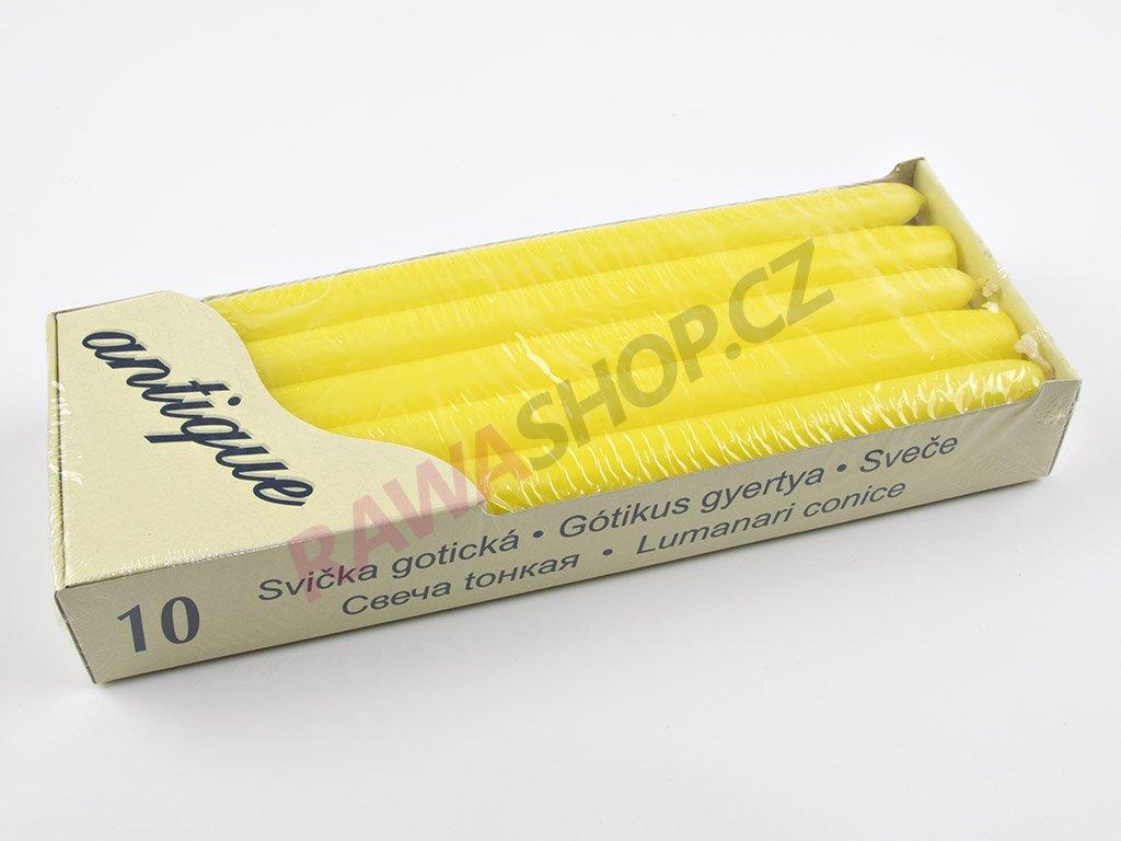 Kónické svíčky 10ks - citrónová