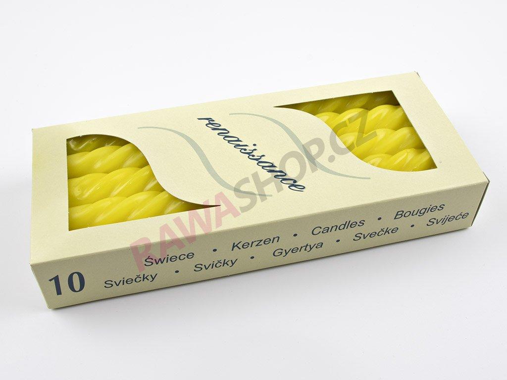 Kroucené svíčky 10ks - citrónová