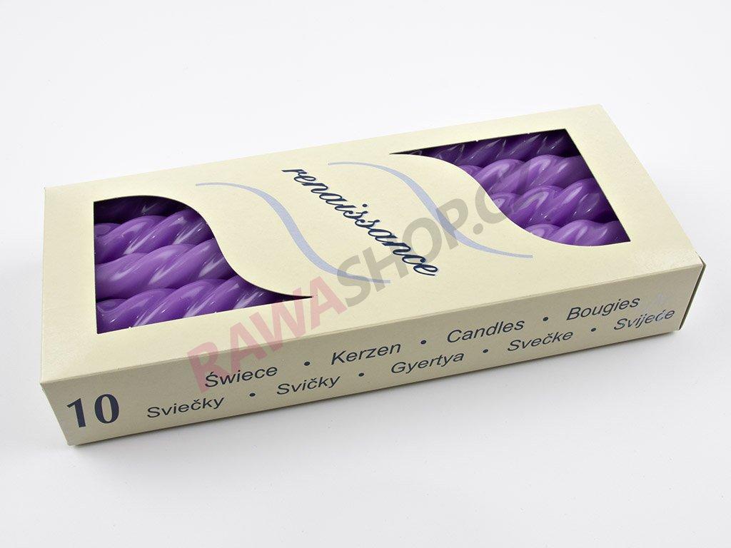 Kroucené svíčky 10ks - lilie