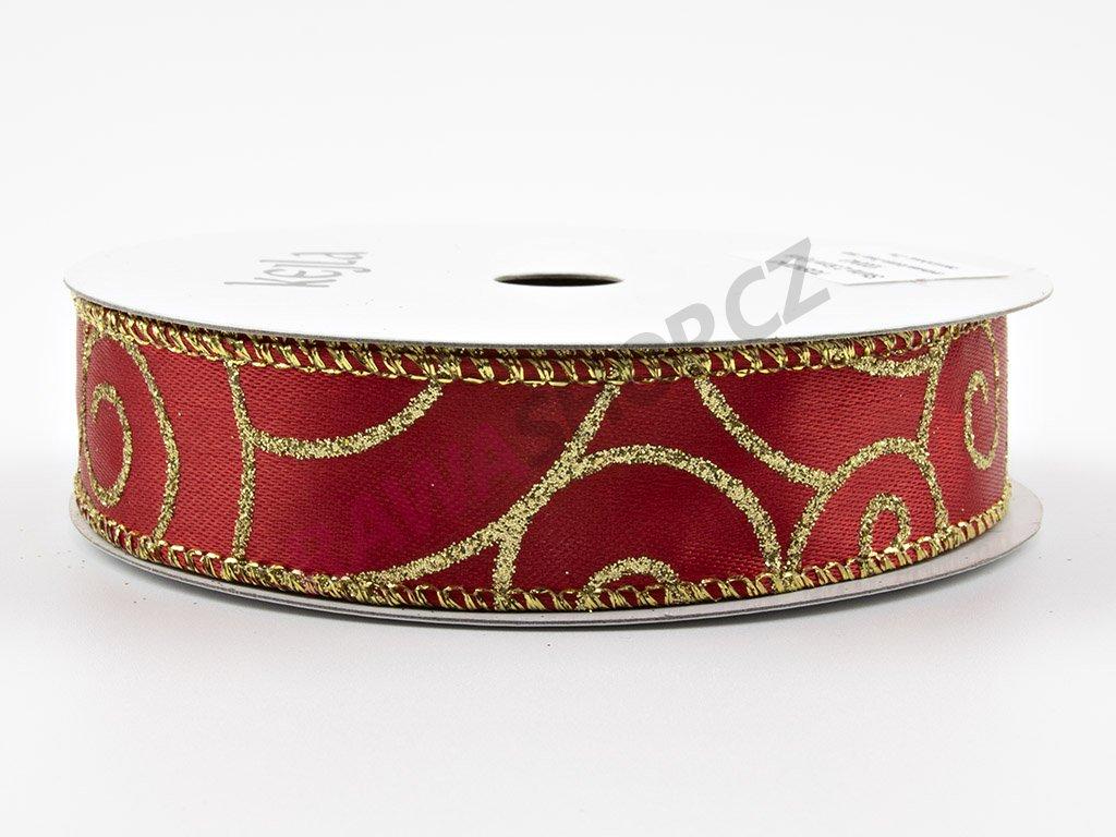 Saténová stuha 2,5cm - červená