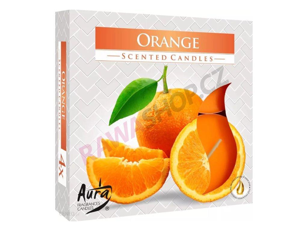 3. Čajové svíčky Maxi 4 ks Orange