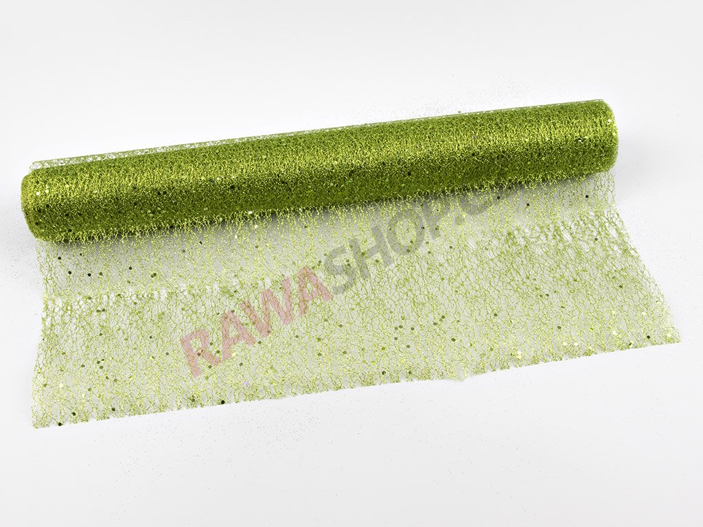 Organza 48cm - zelená 5