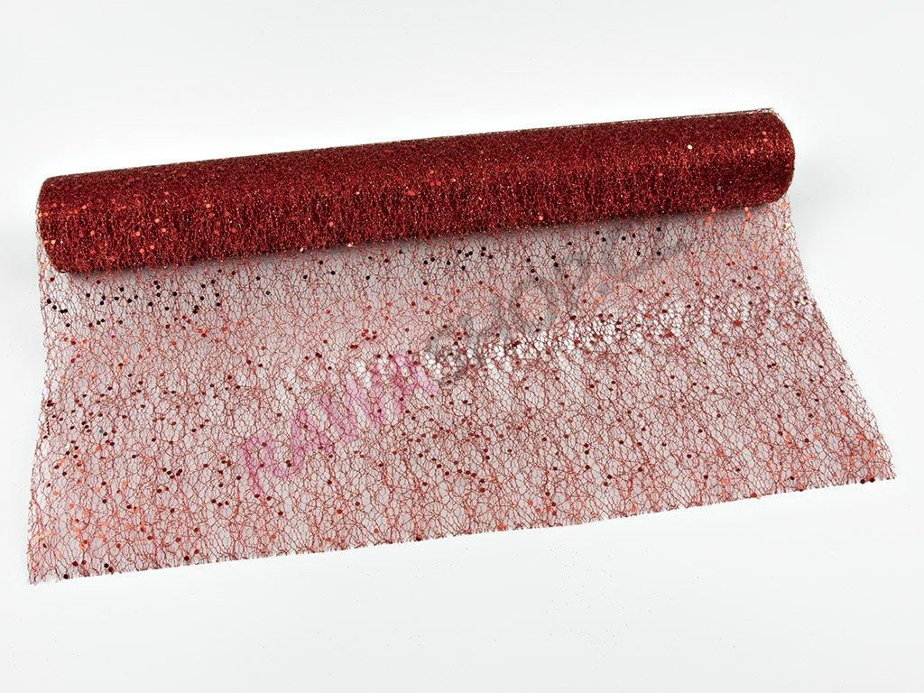 Organza 48cm - červená 5