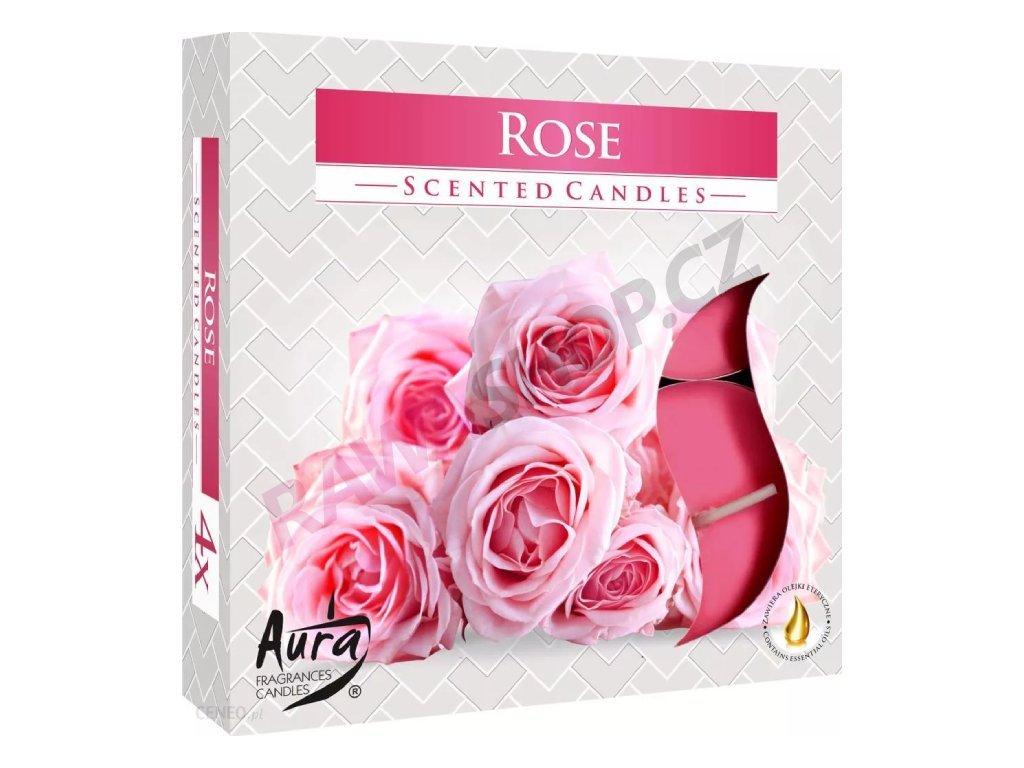 4. Čajové svíčky Maxi 4 ks Rose