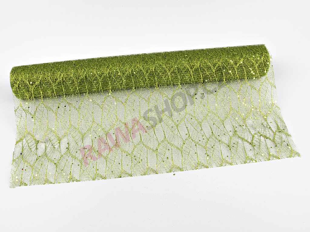 Organza 48cm - zelená 3