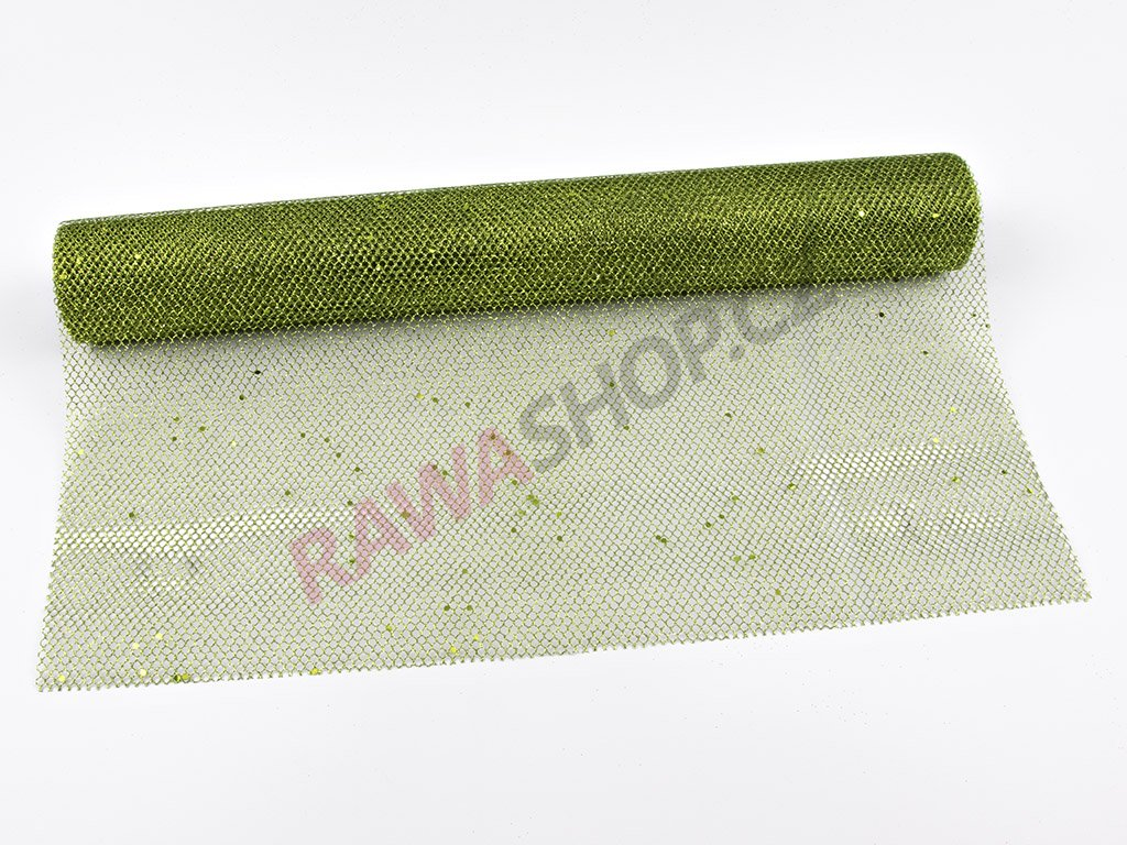 Organza 48cm - zelená 1