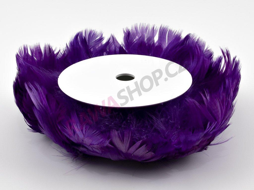 Peří na drátku - fialové