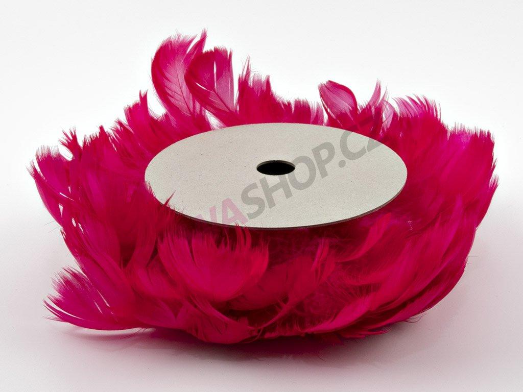 Peří na drátku - růžové
