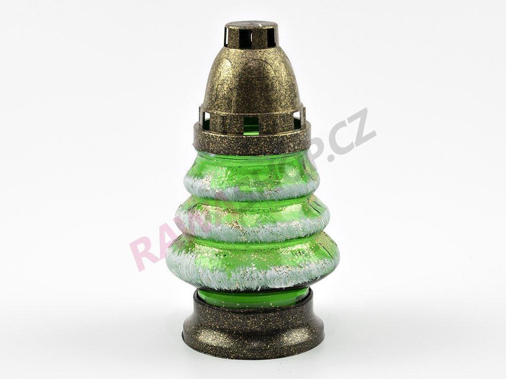 Skleněná svíčka stromeček 16cm-9ks