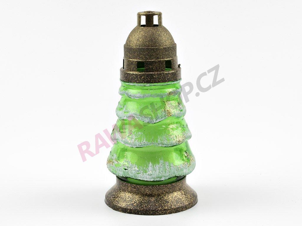 Skleněná svíčka stromeček 19cm - 6ks