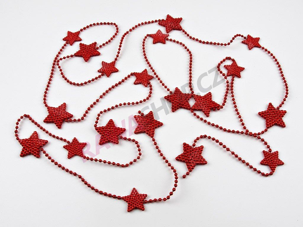 Vánoční řetěz - červená 2