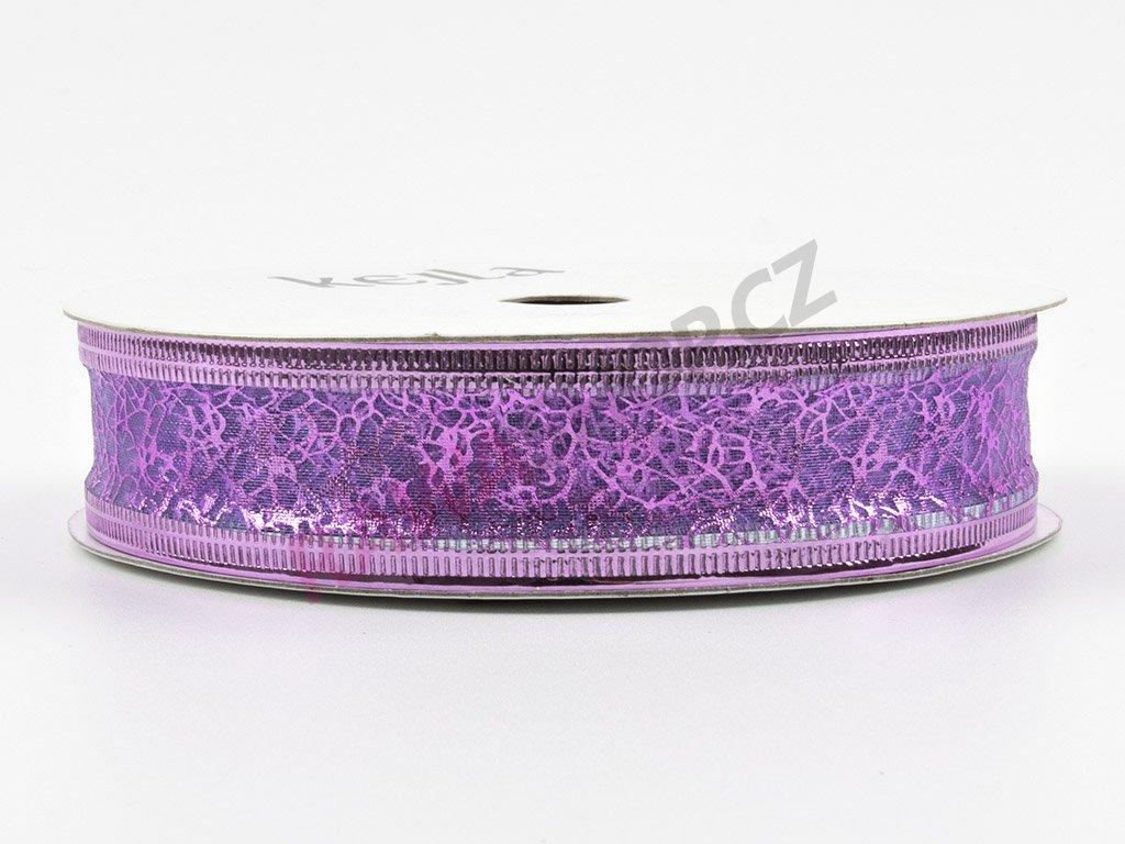Organzová stuha 2cm - fialová