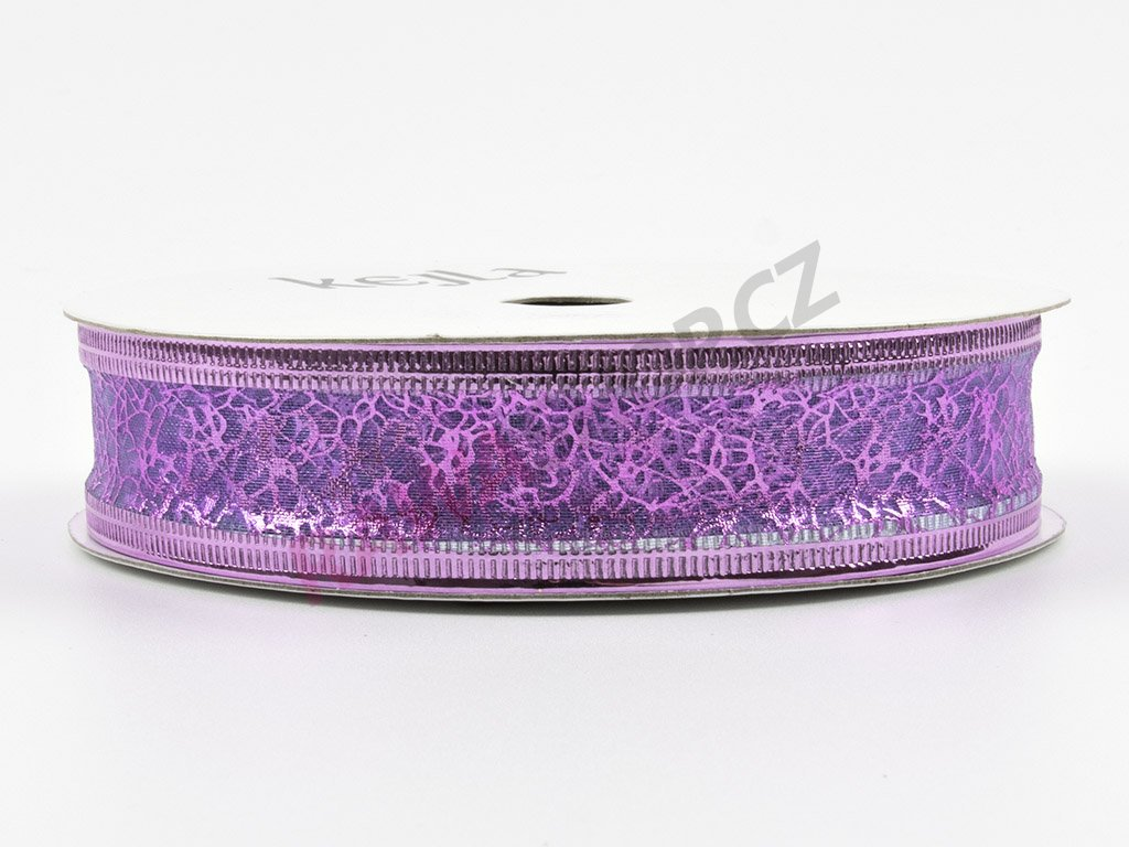 Organzová stuha 2cm - světle fialová