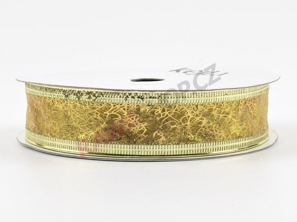 Organzová stuha 2cm - zlatá
