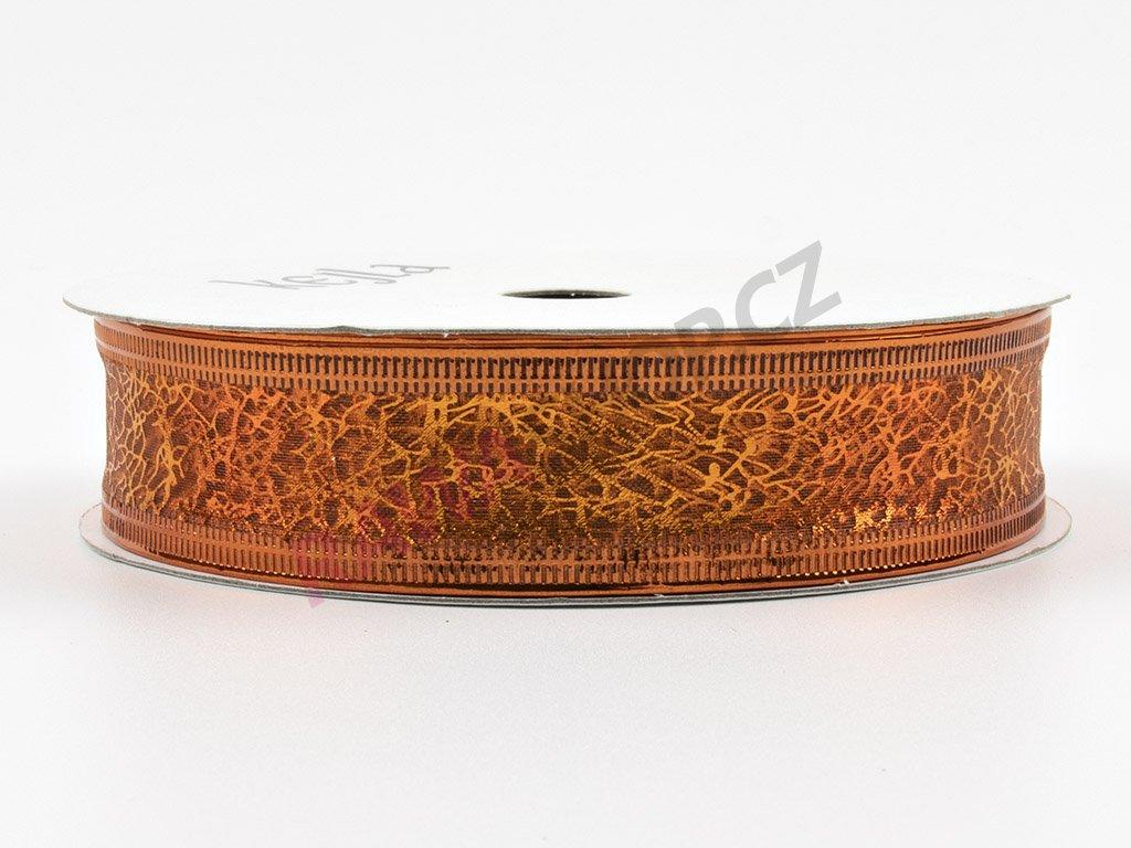 Organzová stuha 2cm - oranžová