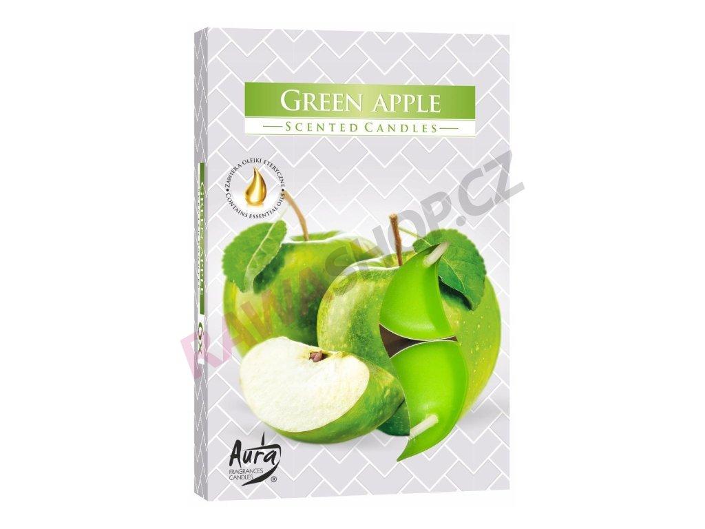 28. Čajové svíčky 6 ks zelené jablko