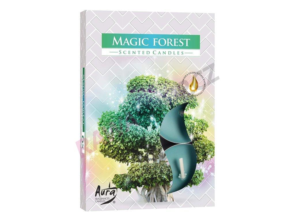 13. Čajové svíčky 6 ks Magic forest