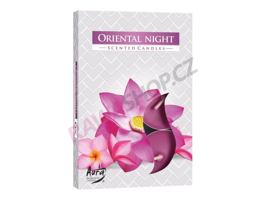 16. Čajové svíčky 6 ks Oriental night