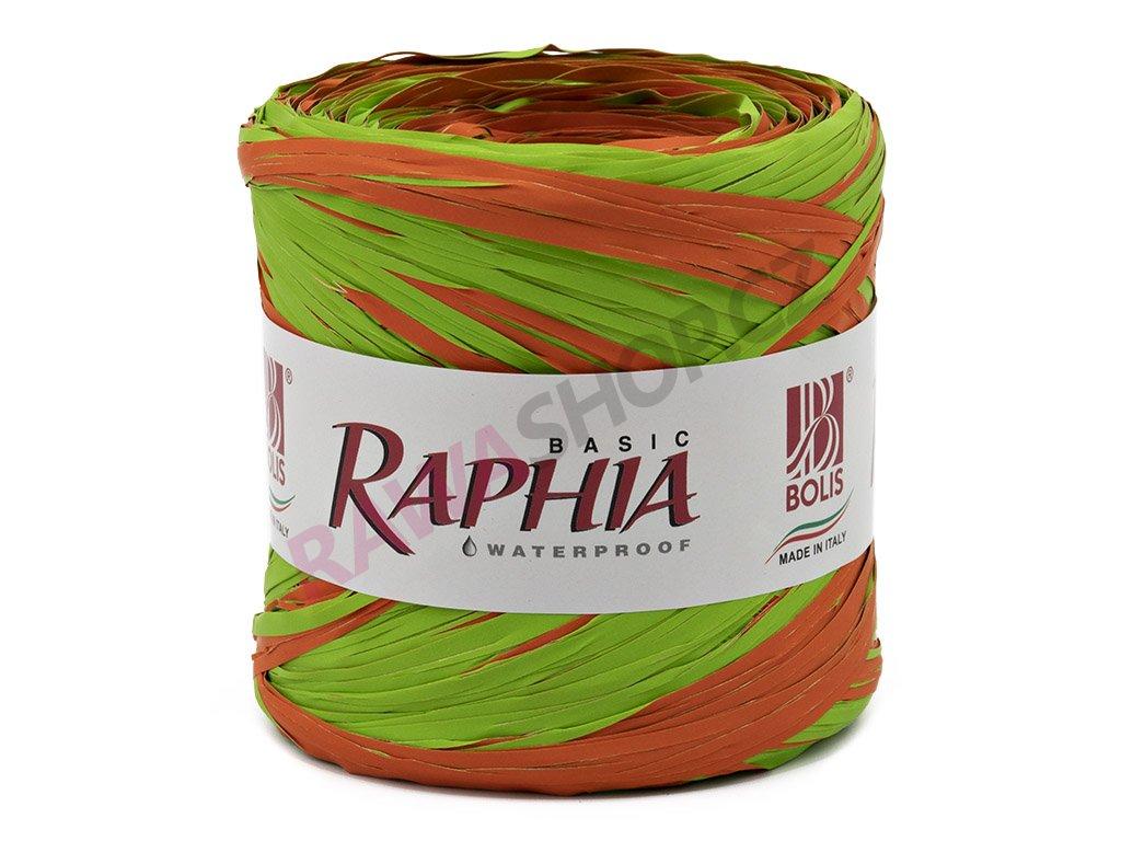 Lýko Raphia - oranžovo-zelená