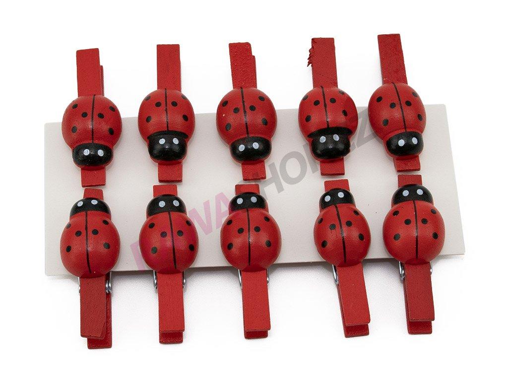 Berušky 10ks - červená