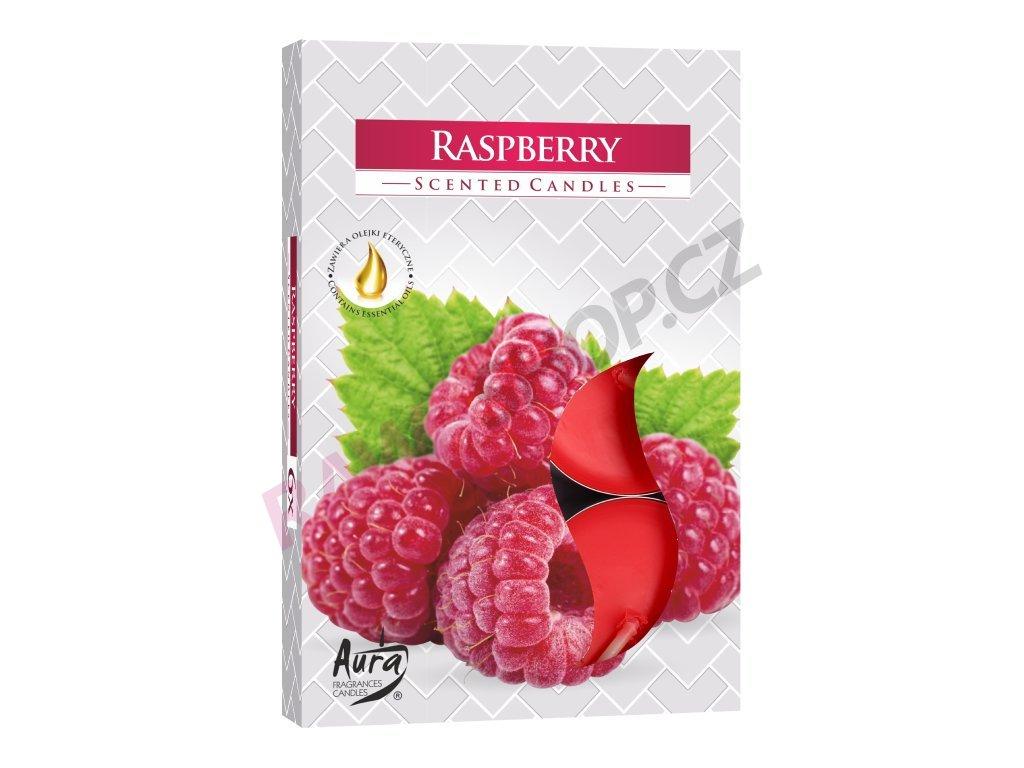 17. Čajové svíčky 6 ks Raspberry