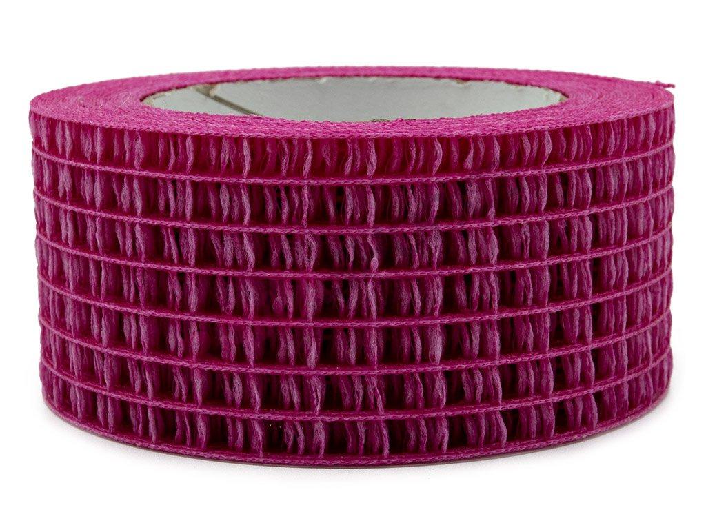 Děrovaná stuha 5cm - tmavě růžová