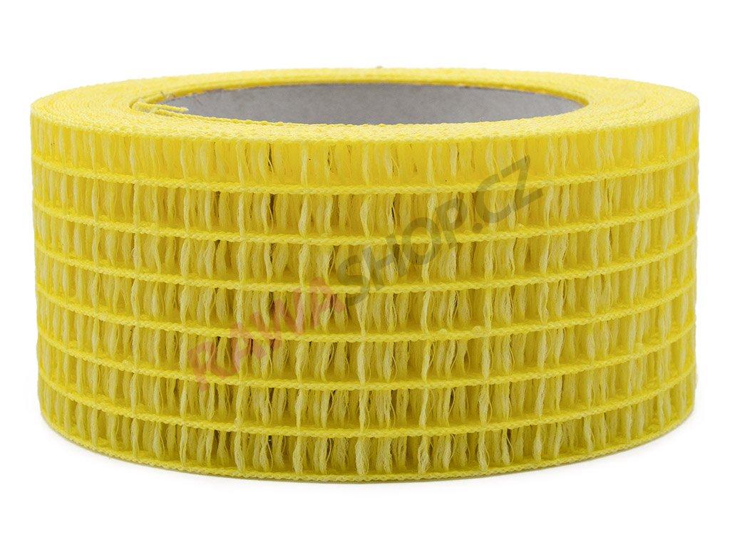 Děrovaná stuha 5cm - citrónová