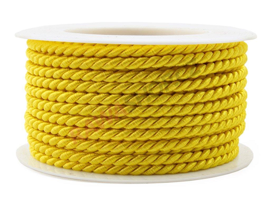 Provázek 3,2mm - žlutá