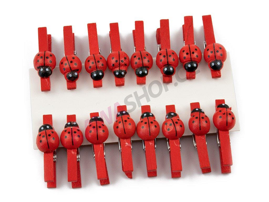 Berušky 16ks - červená