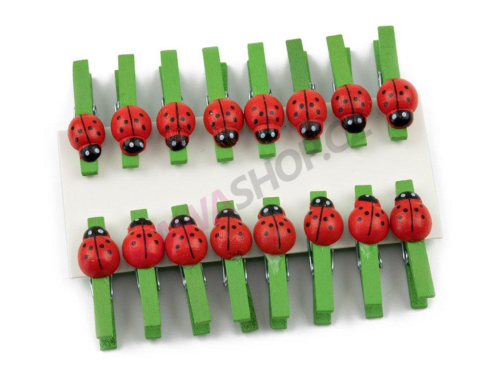Berušky 16ks - zelená