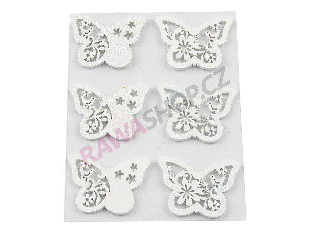 Motýlci 6ks - bílá