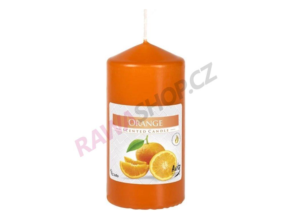 30. Svíčka válec 60 120 pomeranč BSWZ60120 63