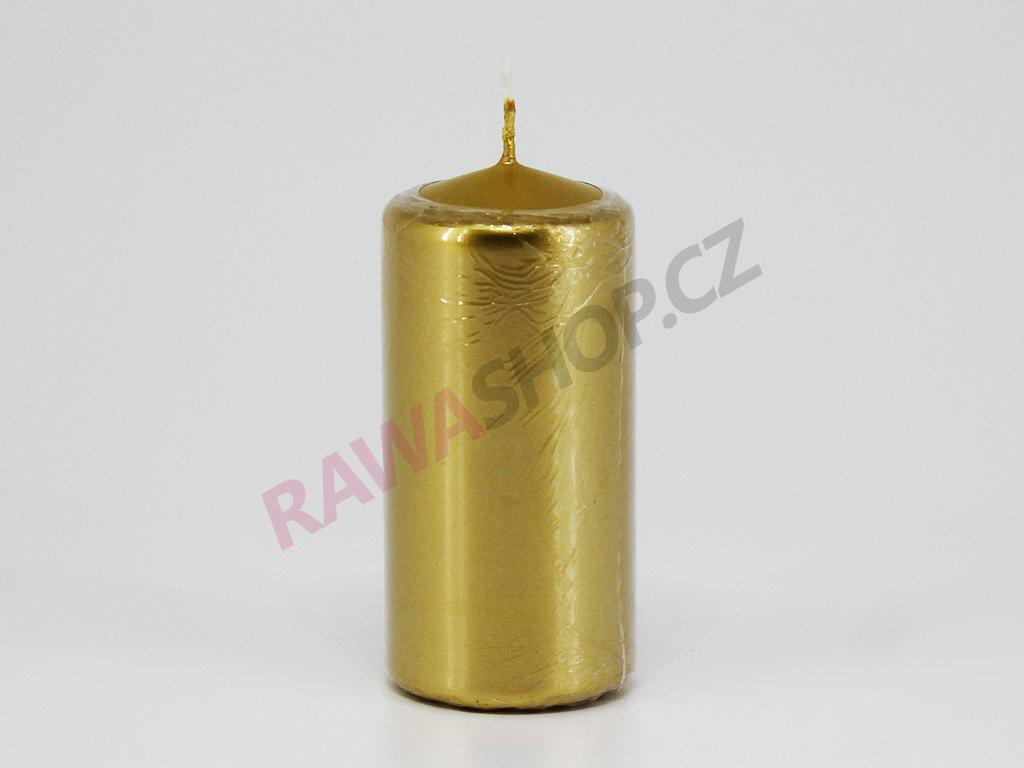 Svíčka válec 50/100 - zlatá