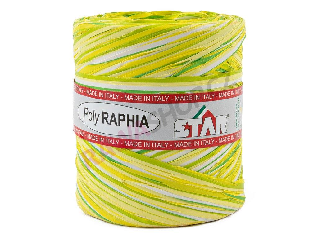 Lýko Poly Raphia - bilo-žluto-zelená